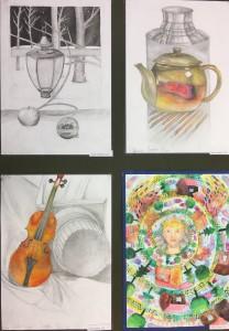 """EMM mokinių piešimo ir tapybos darbų paroda """"Nuo linijos iki spalvos"""""""