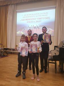 "Sveikiname ""Akordeono virtuozų fiesta"" laureatus"